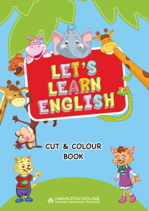 Let's Learn English: Cut and Colour Book